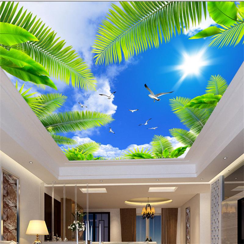 Satin Almak 8d Kristal Duvar Tavan Duvar Kagidi Tavan Sky Bulut